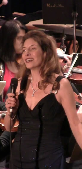 Jean Danton, soprano, in performance